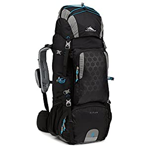 High Sierra Tech 2 Series Titan 55 Internal Frame Pack, Black/Charcoal/Pool