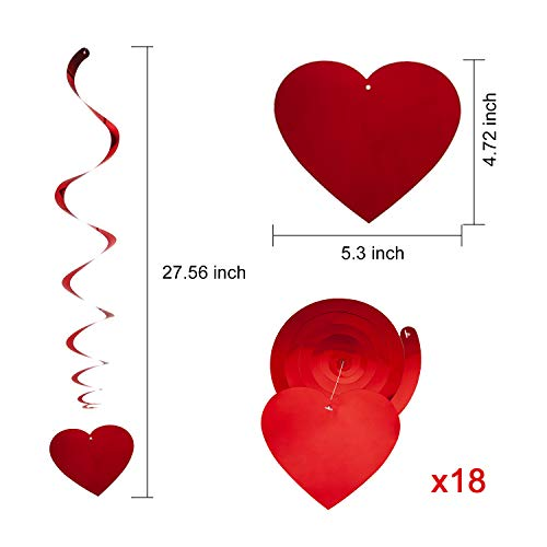 Buy valentine hearts hanging decoration
