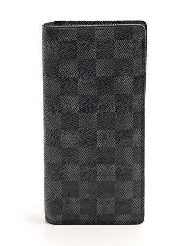 (ルイヴィトン) LOUIS VUITTON ポルトフォイユ ブラザ ダミエグラフィット 二つ折り長財布 PVC 黒 N62665 中古 B07NBJ8PX5