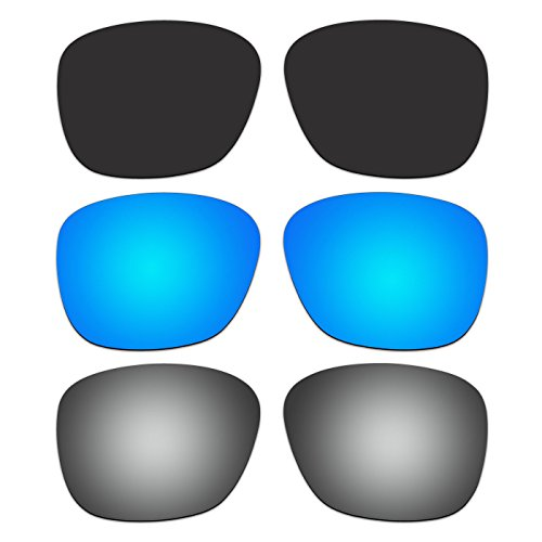 3 Pair ACOMPATIBLE Replacement Polarized Lenses for Oakley Enduro Sunglasses OO9223 Pack - Polarized Enduro