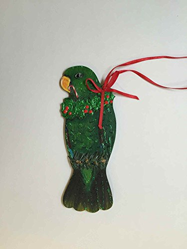 Parrot Christmas Tree Ornament - Male Eclectus Parrot Christmas Tree Ornament