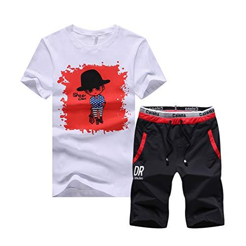 Men Outfits - xzbailisha Mens 2 Piece Outfits Sportswear