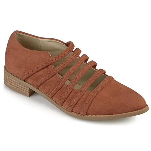 Journee Collection Womens Strappy Almond Toe Flats