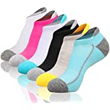 Heatuff Womens Low Cut Ankle Athletic Socks Cushioned Running No Show Breathable Tab Sock 6 Pack