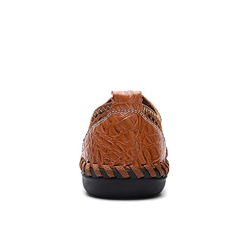 TOREAD Summer Men's Outdoor Breathable Shoes, Cloth Shoes, Travel Shoes. (9.5, Brown) by TOREAD (Image #2)