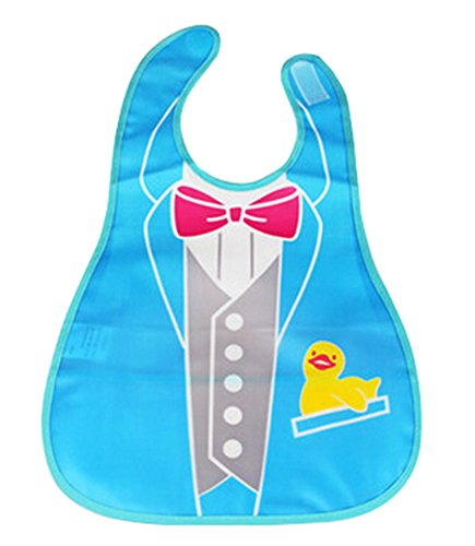 Baby Bibs Waterproof Food Catcher Deep Pocket Soft Adjustabl