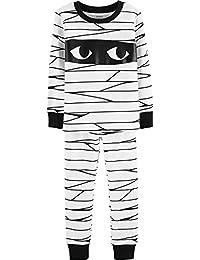 Boys Halloween Mummy Glow-in-The-Dark Pajama Pjs 2 pc