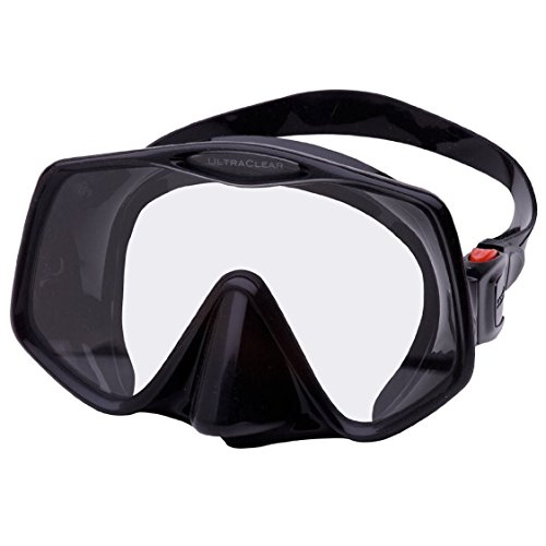 Atomic Aquatics Frameless 2 Mask (Black, Large Fit)