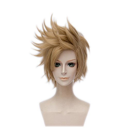 Wgior Synthetic Anime Spiky Layered Hair Comic Con Cosplay Costume Party Dress Up Short Wigs -
