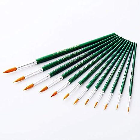 Pinsel Set,Multifunktionales Nylon Pinsel Kunst Multi-Shape Nylon Haar Malerei Pinsel f/ür Acryl Aquarell /Öl Handwerk Rock Gesicht Malerei Pack von 12