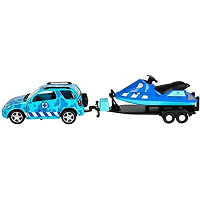 Rhode Island Novelty Aquatic 4 x 4 with Trailer and Jet Ski: Toys & Games