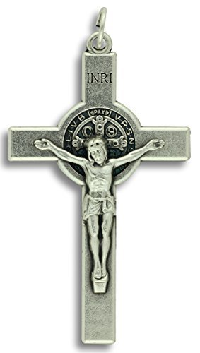 Lot of 3! Saint St St. Benedict Crucifix Cross Pendant 2-1/8