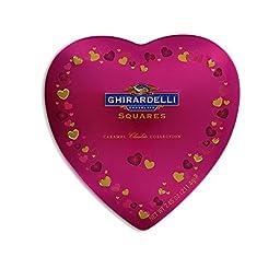 Ghirardelli Caramel Chocolate Collection, 7.45oz Heart Tin