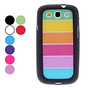 LZX Transparent Colorful Pattern Hard Case,Screen Protector for Samsung Galaxy S3 I9300 (Assorted Colors) , Purple