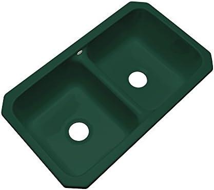 Dekor Sinks 50043UM Westport Double Bowl Undermount Cast Acrylic Kitchen Sink, 33 , Timberline