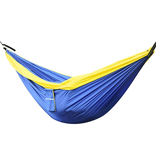 totobay Hammock, Camping Hammocks with Friendly Tree Straps and Steel Carabiners- Eno Hanging Hammock for Travel, Backpacking, Beach, Yard. (118 L x 78 W)