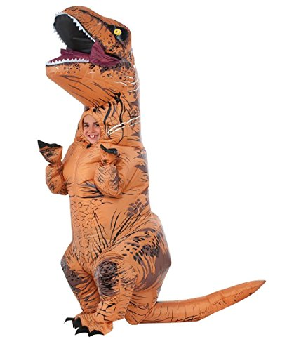 Rubie's Jurassic World T-Rex Inflatable Costume, Child's Size Small - Inflatable Dinosaur Costumes