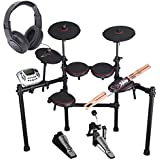 Carlsbro CSD180 8-Piece Enhanced Electronic Drum Kit with Over-Ear Stereo Headphones - Pair of Drumsticks - Top Value Bundle!