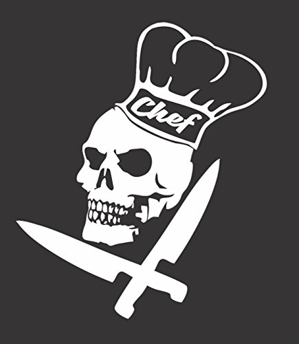 Barking Sand Designs Chef Skull Knifes Culinary -