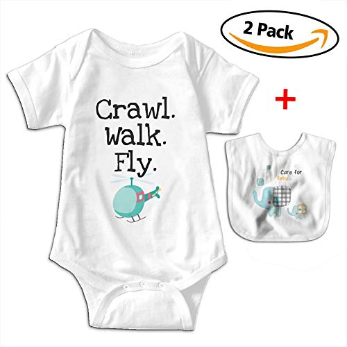 Wadeworth Crawl Walk Fly Plane Baby Boys Girls 100% Cotton Jumpsuit Clothes Bodysuits - Space Crawl Jumpsuit