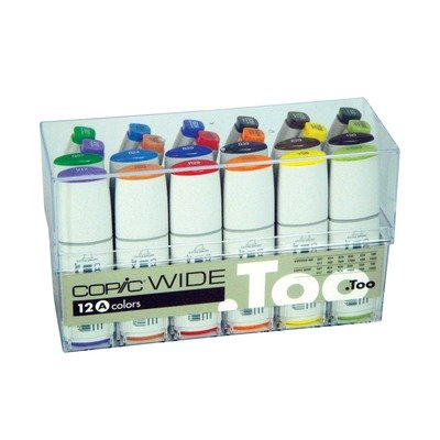 Copic Wide Marker 12 W/Inks Set A