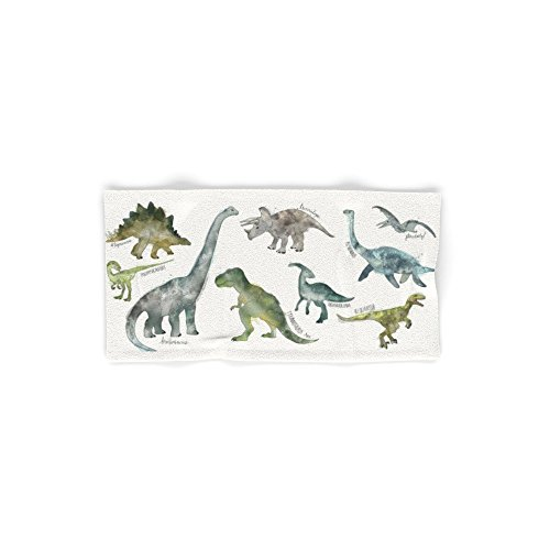 Society6 Dinosaurs Set of 4 (2 hand towels, 2 bath towels)
