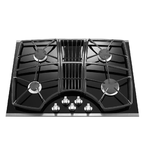 kitchenaid kgcd807xss 30inch 4burner downdraft cooktop