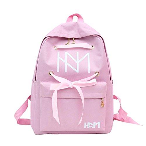 Pink up Fashion School Women's Bag Lace collectsound Shoulder Grey Bandage Backpack Travel Rucksack nX7RWHqX