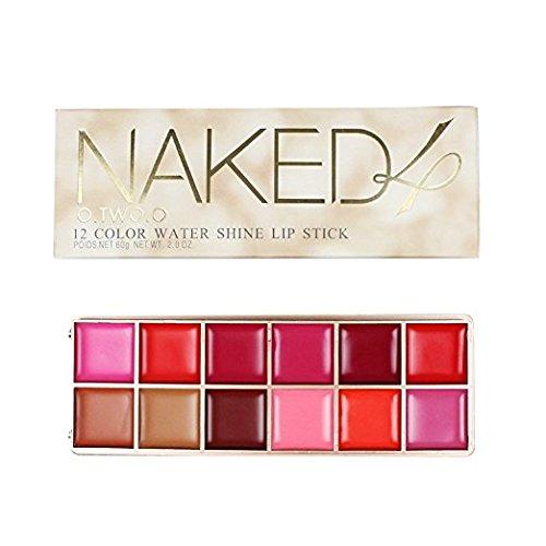 Gloss Palette - Long Lasting Waterproof Red Brown Lip Gloss Liquid Cream Lip gloss Lipsticks Palette (#2)