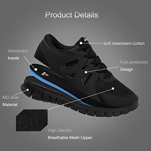 Stringata Nero Uomo Scarpe Sneaker Palestra Sport Classica Da Running Corsa xHxzqwRYT