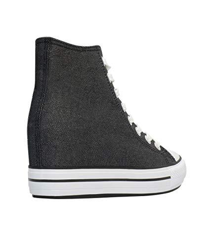Zapatillas 2757 Negro KRISP Moda Casuales Mujer pnddBq