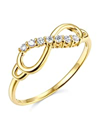 14k Yellow OR White Gold SOLID Infinity Ring