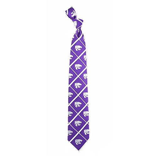 Kansas State Wildcats NCAA Silver Line Woven Silk Neck Tie Eagles Wings