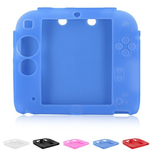 UPC 886489824371, Skque庐 Soft Silicone Skin Case Cover for Nintendo 2DS, Blue