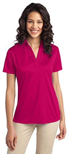 Port Authority Ladies Silk Touch Performance Polo, Pink Raspberry, XXXX-Large