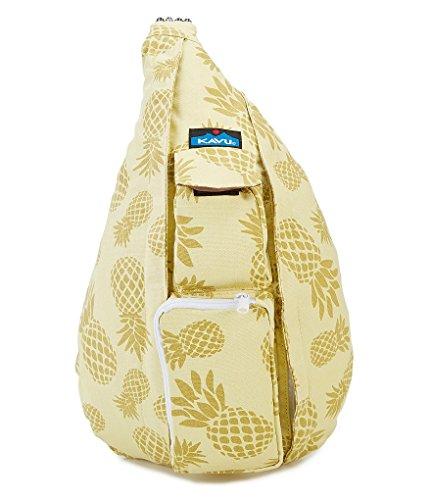 KAVU Rope Bag Shoulder Sling Cotton Backpack - Pineapple Sun