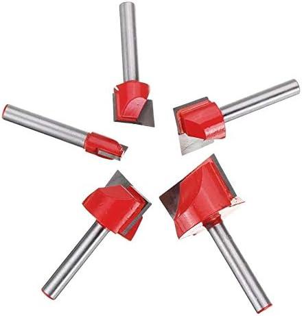 Router-Tool Hobel Bottom Reinigungs Holz Fräsen CNC-Fräser Werkzeuge 5pcs 16.10/20/25 / 30mm Oberfläche Holzbearbeitungs