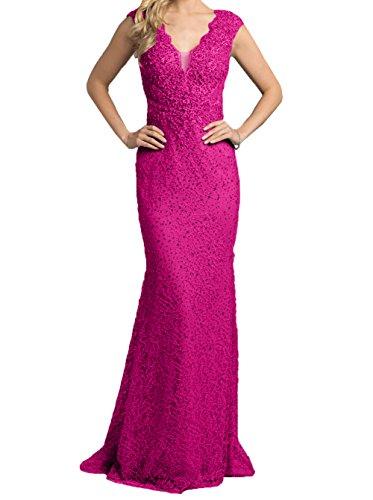 Etuikleider Partykleider Pink Charmant Pailletten Abendkleider mit Festlichkleider Damen Steine Grau Brautmutterkleider Lang xwqOHx4