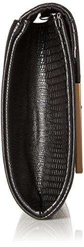 Pu Coccodrillo Accent Glitterata Frizione Donna Nero Metallo In Lembo Di Motivo Black Da Pelle Bmc onyx n4HFWW