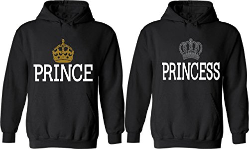 Prince & Princess - Matching Couple Hoodies - His and Her Love Sweaters