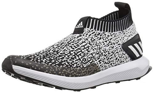 adidas RapidaRun Laceless Running Shoe Black/White/Black, 4.5 M US Big Kid