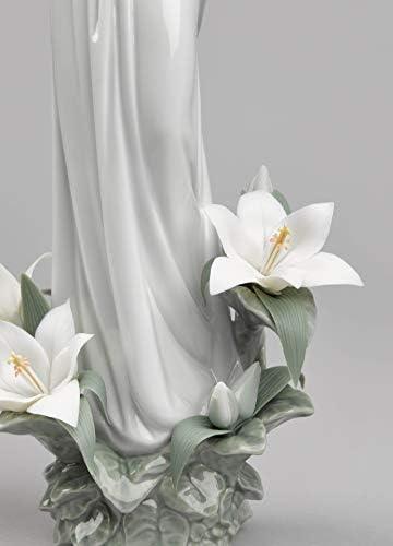 Amazon.com: Lladro Virgen de la Escultura de flores de ...