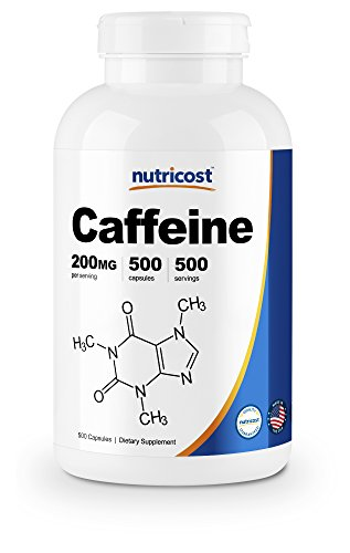 (Nutricost Caffeine Pills, 200mg Per Serving (500 Caps))