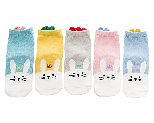 Unisex Baby Socks YEAPOOK Cute Cartoon Cotton Cartoon Kids Socks Infant Newborn Socks Girls-5 Pairs (S(1-3t),Rubbit)