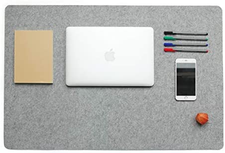 Schreibtischunterlage aus Designer Filz schreibtischmatte 54x80cmmit Anti-Rutsch-Beschichtung LuckySign®(Grau)