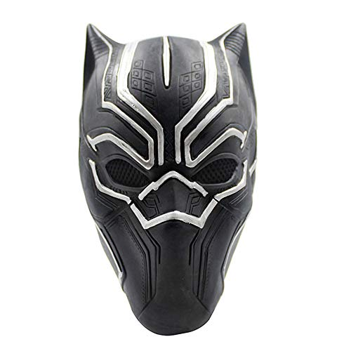 (TTXST Halloween Kids Black Panther Mask Hero Children Cosplay Masks UK Halloween Carnival Cosplay Panther Black Latex Cosplay Full Head Helmet Mask - Universal)