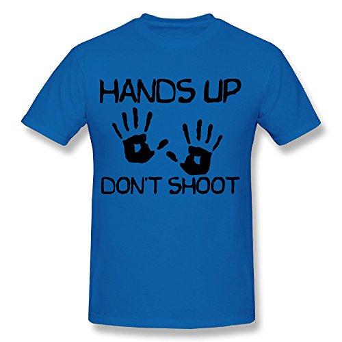 SNOWANG Men's Hands Up Don't Shoot T-shirt 3X
