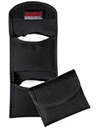 7328 Black Flat Glove Pouch with Hook and Loop