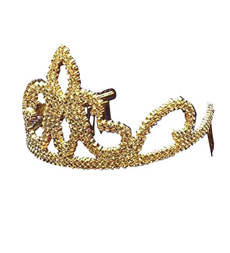Gold Plastic Tiara Shiny Golden product image