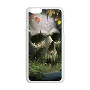 Tony Diy Beautiful flowers and white skull cell phone case cover for iPhone 6 9O4EsQYBeWv Plus 5.5""
